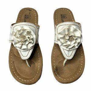 MODELLISTA White Thong Slip On Wedge Sandal 10
